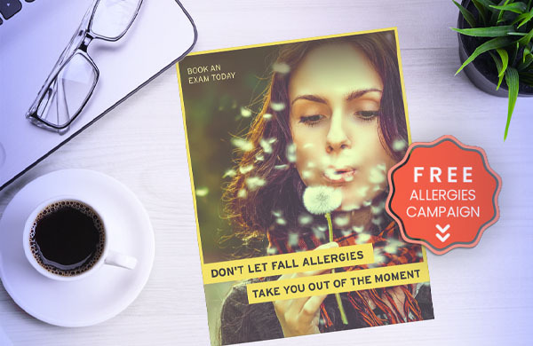 free fall allergies campaign for optometry