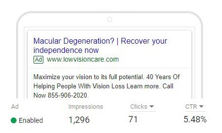 PPC for Macular Degeneration on tablet