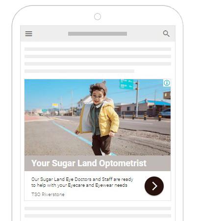 PPC Ad for Sugarland Optometrist