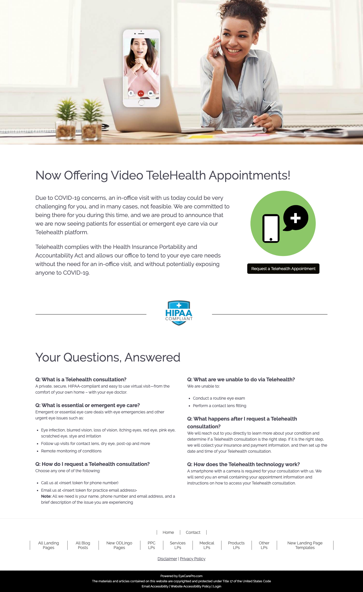 TeleHealth For Optometry and Better Eye Care