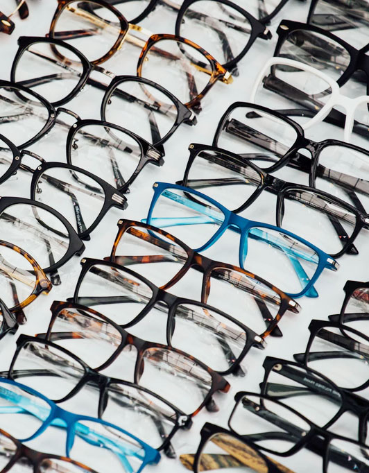 Tray of glasses