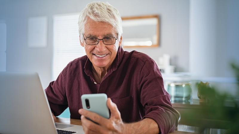 man using tech